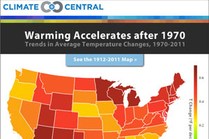 Climate Central: The Heat is On Infographic